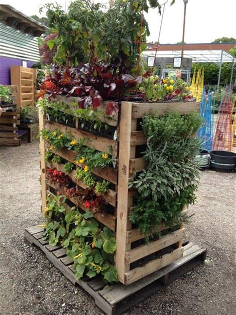 Diy Vertical Garden Ideas Diy Pallet Garden Box Project Pallets Designs