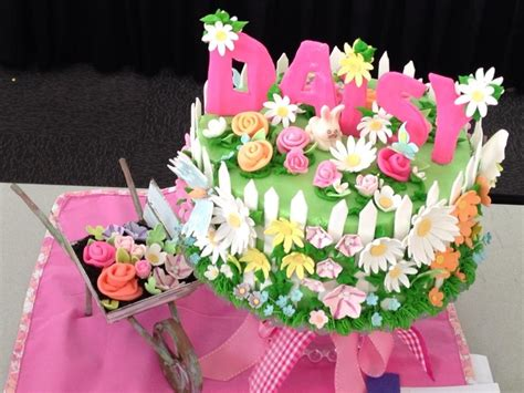 Flower Garden Cake Ideas 67401 Flower Garden Cake Ideas 67401 Flower Garden White Fence F