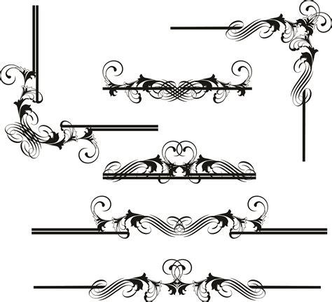 design frame vector european border pattern vector free vector 4vector