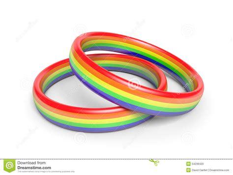 Eheringe Farben by Zwei Eheringe Mit Regenbogen Kennzeichnen Farben Ein