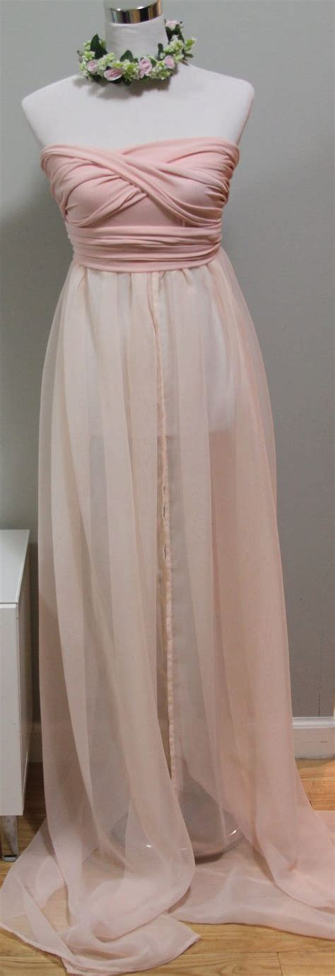 diy birthing gown infinity maternity gown photo prop jersey and chiffon blush pink on etsy 79 00 maternity
