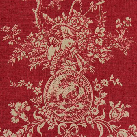 french provincial upholstery fabric waverly toile red toile fabric the fabric mill