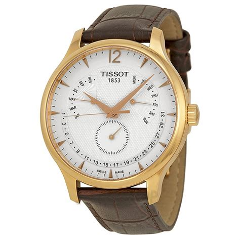 tissot tradition perpetual calendar gold plated s