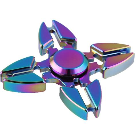Jual Fidget Spinner Fidget Spinner 4 Sisi Claw Capit Premium zinc alloy rainbow fidget spinner crab blade