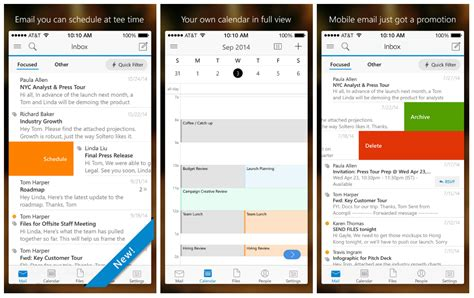 outlook app for android microsoft outlook for ios and android also plays with gmail yahoo and dropbox gizmodo