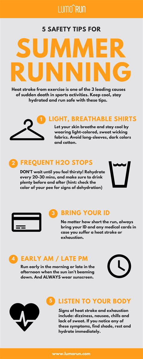 9 tips for running safely infographic safety tips for summer running