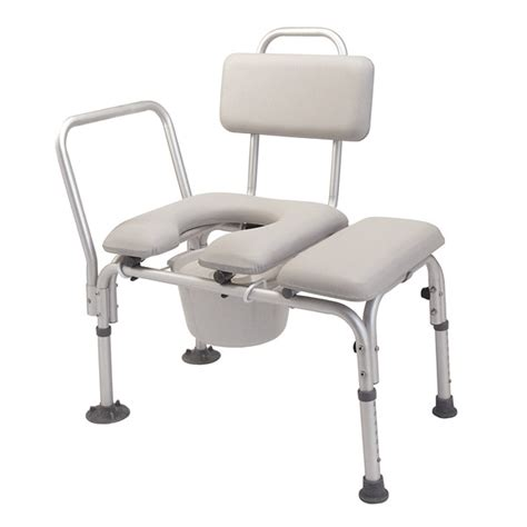 transfer bench with commode padded transfer bench with commode north coast medical