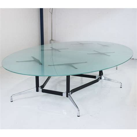 Vitra Meeting Table Original Vitra Eames Glass Boardroom Table With Segmented Base Designer Meeting Table Glass