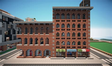 modern small brick apartment building new york brick buildings on world of keralis minecraft project