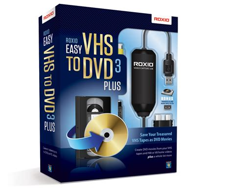cassette vhs in dvd roxio easy vhs to dvd product imagery