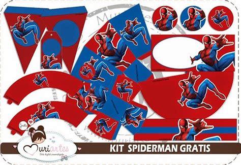 printable spiderman party decorations spiderman free printable kit superheroes and super