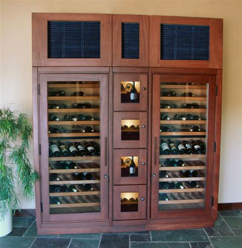 Refrigerated Wine Cabinet by Refrigerated Wine Cabinets Shop For Vigilant Woodworks