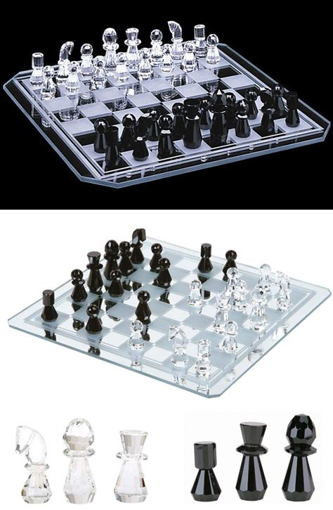 Designer Chess Sets crystal chess sets modern contemporary