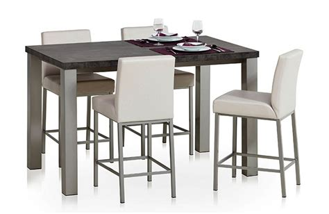 table snack cuisine table de cuisine stratifi 233 e 90cm quadra