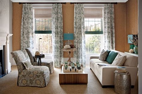 ideas for blinds and curtains roman blind paired with light linen curtains design
