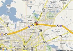 map of hton inn suites tallahassee i 10 thomasville