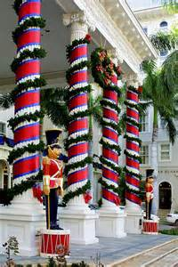 columns in christmas wrap photograph by linda phelps