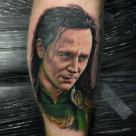 color loki portrait by chris jones tattoos