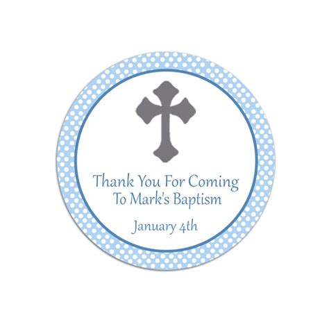 Thank You Card Bautism Template Word by Baptism Thank You Favor Tags Template Free Baby Shower