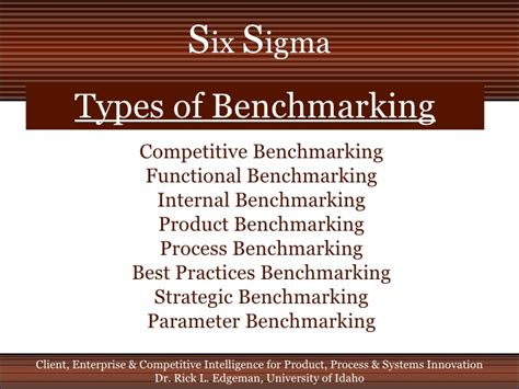 types of bench mark six sigma benchmarking