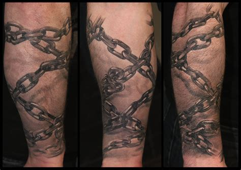 chain tattoo on arm chain images designs