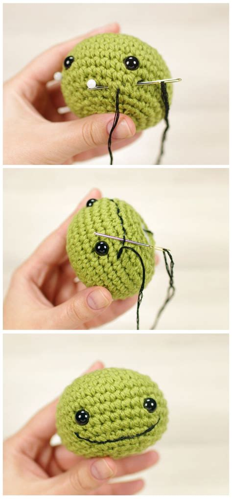 crochet pattern tutorial pinterest how to embroider an amigurumi smile tutorial free