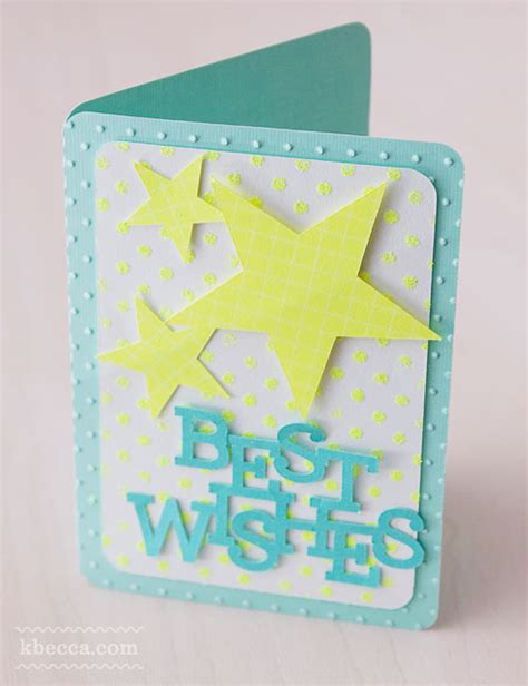 Best Wishes Handmade Cards - card kit 1 best wishes project idea