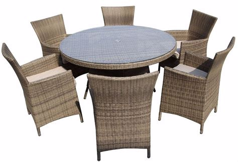 6 seater rattan garden furniture dining set chairs table