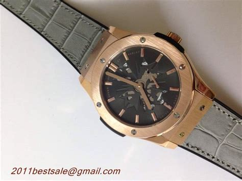 Hublot Vendome Fusion Rosegold Grey top quality replica watches hublot classic fusion shawn black gold with