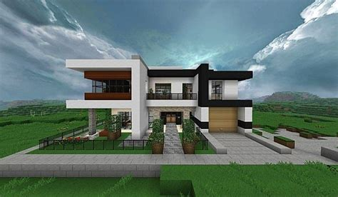 modern house building modern home very comfortable minecraft house design