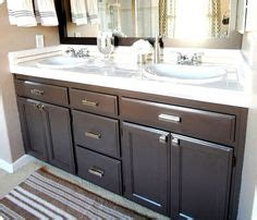 bathroom cabinets painted with rustoleum cabinet transformations in espresso i used the