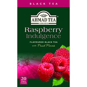 Ahmad Tea Raspberry Indulgence 40g Flavoured Black Tea 20 Tea Bag sadaf raspberry indulgence flavoured black tea 20 tea bags 1 4 oz