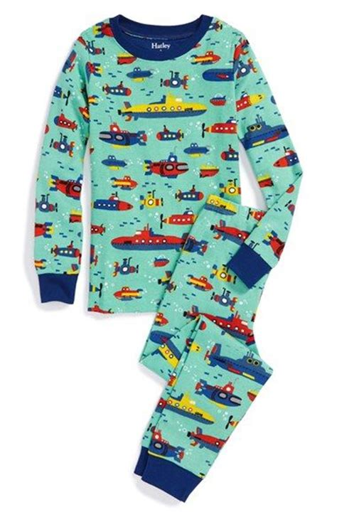 two pajamas for toddlers hatley submarine print two fitted pajamas toddler