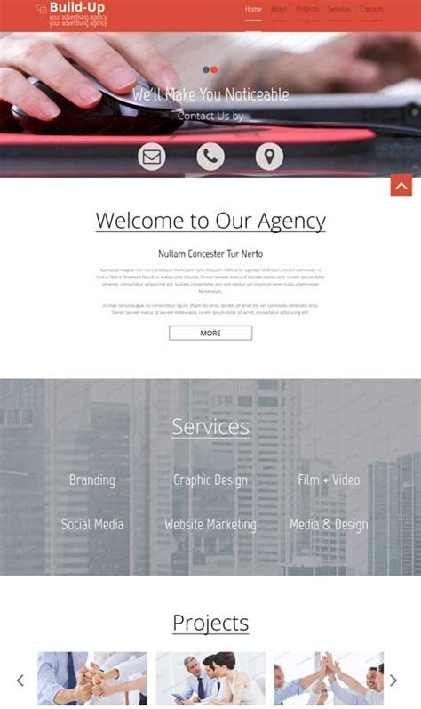 80 Best Free Responsive Html5 Templates Techclient Designing Coherent Template
