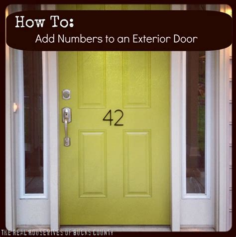 front door number how to add awesome house numbers east coast creative