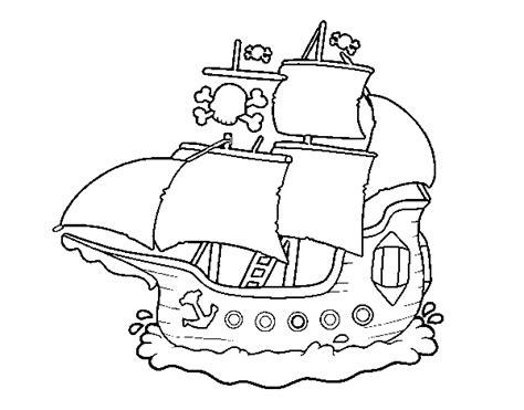 barcos para colorear en linea barco pirata para colorear imagui