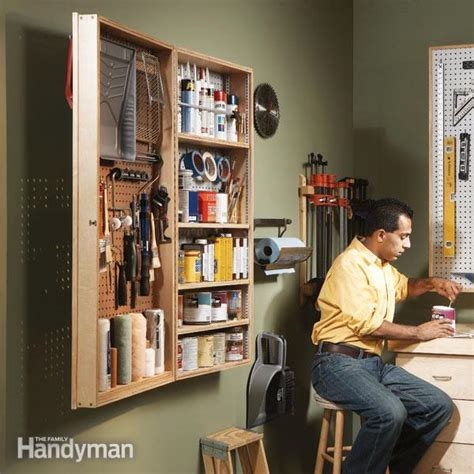 diy garage storage diy garage cabinet the family handyman