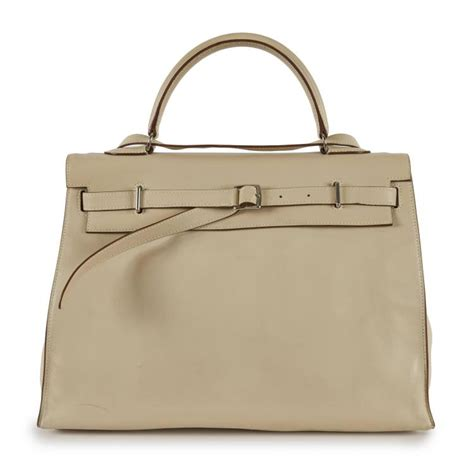 Gallery Reserve Your 2007 Designer Handbags by Herm 200 S 2007 Sac Flat 35 Veau Craie Piqu 233 Sellier
