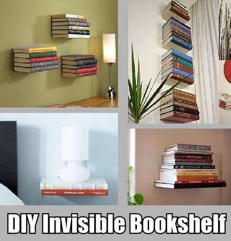 diy invisible bookshelf diy home decorating 2017 04 23 19 10