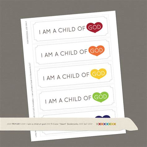 tiny talks i am a child of god books i am a child of god bookmark printables by by littlemissmormon