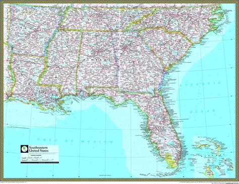 map of southeastern united states with cities southeast us map with cities cdoovision