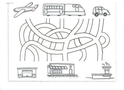 free printable preschool transportation worksheets transportation maze worksheet for kids 1 crafts and