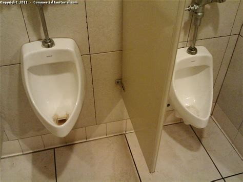 Bathroom Urinals by Restroom Cleaning Janitorial Cleaning Before Image