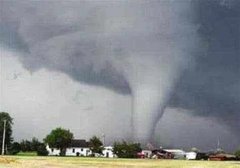 spectacular tornado sweeps  kansas