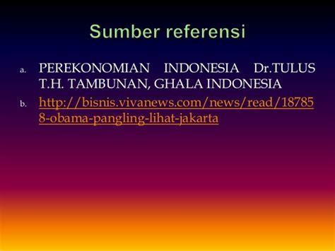 Prekonomian Indonesia Tulus tugas perekonomian indonesia prospek ukm