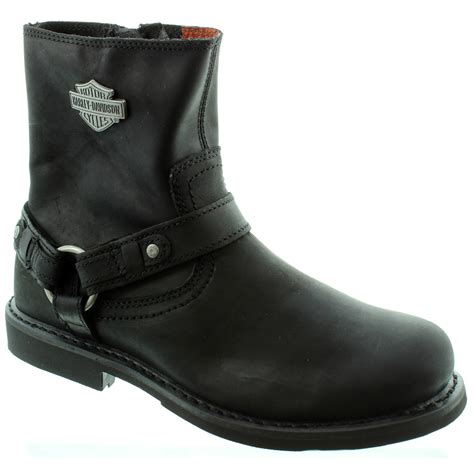 harley davidson scout ankle boots in black in black