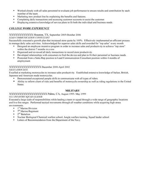 transition resume sles resume prime