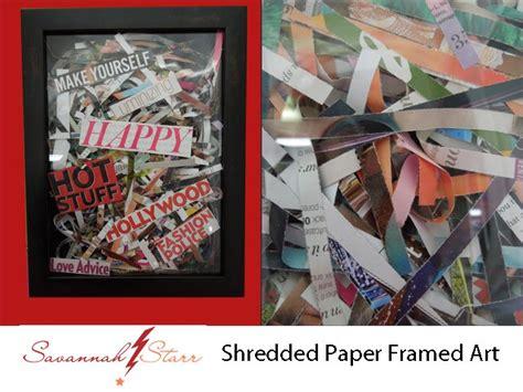 Shredded Paper Crafts - shredded paper framed favecrafts