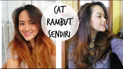 tutorial ombre rambut ungu tutorial cara cat rambut sendiri di rumah w full proses