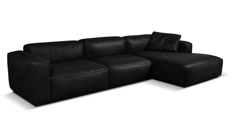 Lanza 3 Seater Leather Chaise Sofa Vavicci Fine Home Leather Chaise Sofa